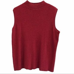 Emma James sleeveless sweater red metallic size 1